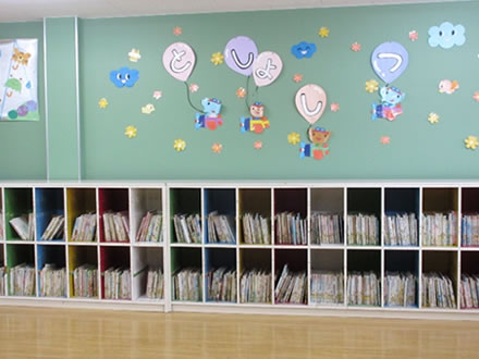 3,000冊の蔵書がある図書館